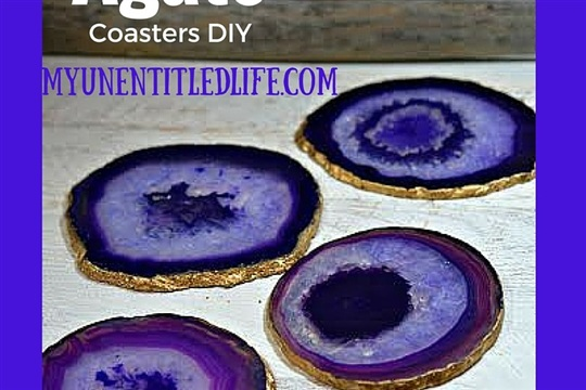 Agate Coasters DIY a great Christmas present!